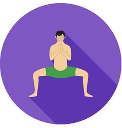 Buddhist pose vector