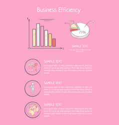 business efficiency poster with graphic infocharts vector image