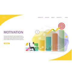 business motivation landing page website vector image