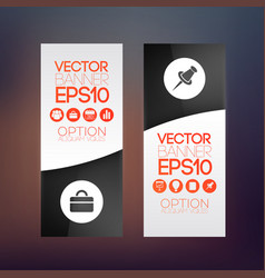 Business web infographic vertical banners vector