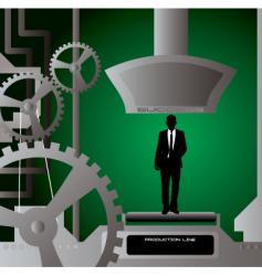 businessman production cut vector image