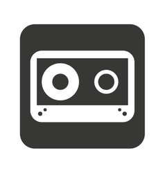 cassette music retro icon vector image