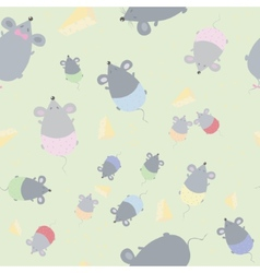 Childrens seamless texture with mice vector image