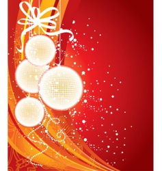 Christmas back red vector image