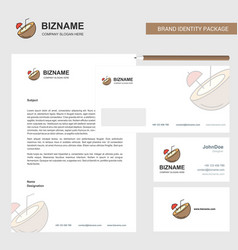 coconut business letterhead envelope and visiting vector image