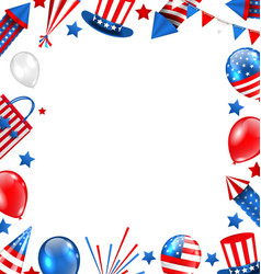 Colorful border for american holiday traditional vector