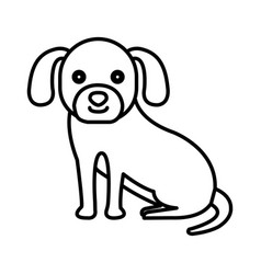 cute dog pet icon vector image