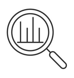 Data analysis magnifying glass diagram financial vector