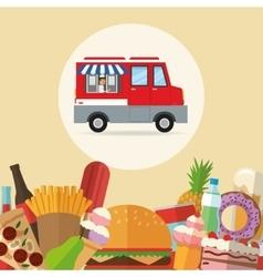 Delicius food Truck icon Delivery concept vector image