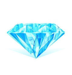 diamond blue crystal vector image