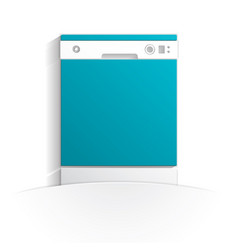 Dishwasher icon paper vector
