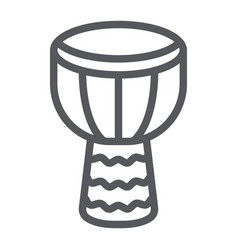 Djembe line icon music and instrument drum sign vector