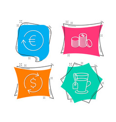 dollar exchange exchange currency and banking vector image