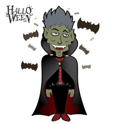 Dracula Halloween 1 vector image