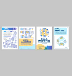 Email marketing brochure template layout mass vector