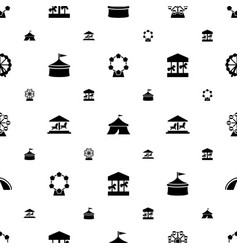 Fair icons pattern seamless white background vector
