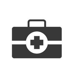 First aid kit healthcare and medical related vector
