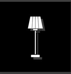 floor lamp icon flat vector image