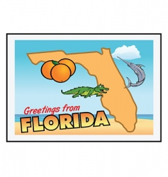 florida greetings vector image