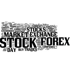 forex beats the stock market text background word vector image vector image