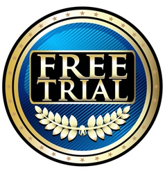 Free Trial Blue Emblem vector