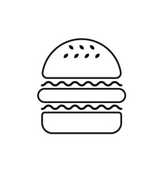 Hamburger linear icon vector