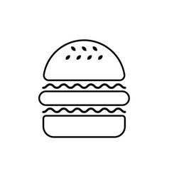 hamburger linear icon vector image