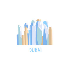 hand drawing icon skyscrapers dubai united vector image