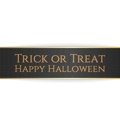 Happy halloween trick or treat ribbon vector