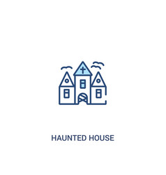 Haunted house concept 2 colored icon simple line vector