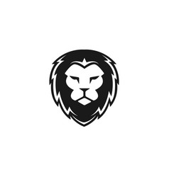 head lion logo design vector image