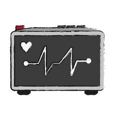 Heart electrocardiogram icon image vector