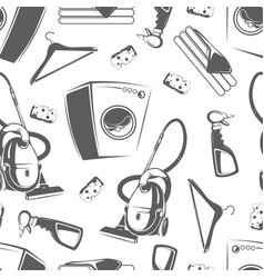 Housework laundry seamless pattern design vector