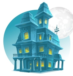 image a haunted house on a background the vector image