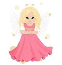 little angel vector image
