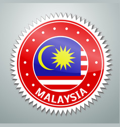 Malayan flag label vector image