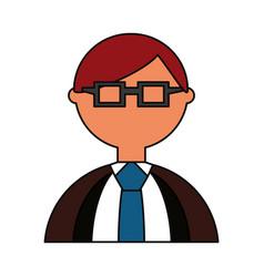 man geek cartoon vector image vector image