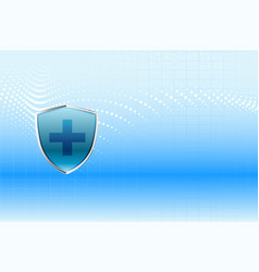 Medical protection shield health care background vector