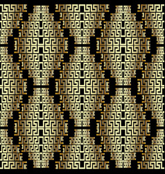 Modern creative 3d greek seamless pattern vector