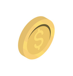money coin online shopping isometric icon vector image