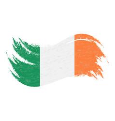 national flag of ireland designed using brush vector image