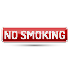 no smoking - abstract beautiful button with text vector image