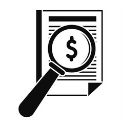 payment paper icon simple style vector image