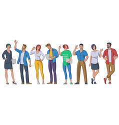 People greeting gesture vector