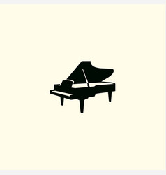 piano silhouette art logo icon vector image