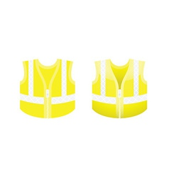 Protective fluorescent yellow vest vector image