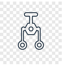 pulley concept linear icon isolated on vector image