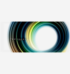 rainbow fluid abstract swirl shape twisted liquid vector image
