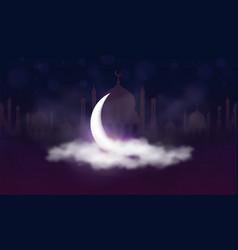 ramadan kareem background muslim feast vector image