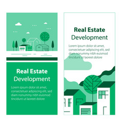 real estate development residential building vector image